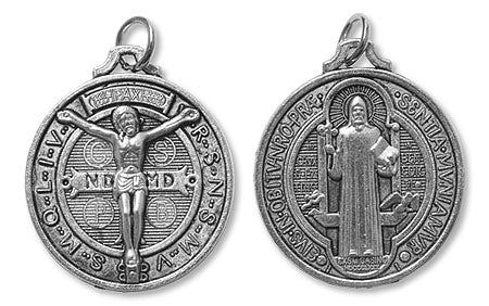 St. Benedict Religious Medal Pendant with Corpus
