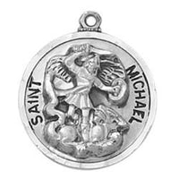 St. Michael Archangel Medal Necklace Creed Heritage Collection