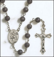 St. Michael Gray Marble Rosary