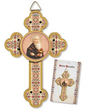 St. Benedict Wooden Wall Cross