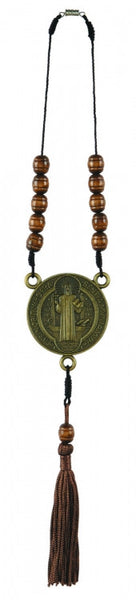 St. Benedict Auto Rosary with Tassel