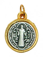 Small (1/2 inch) Two Tone St. Benedict medal