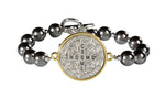 St. Benedict Two Toned Bracelet