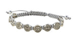 Copy of St. Benedict Medals on a Cord Bracelet/Gray