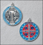 St Benedict Painted Medal