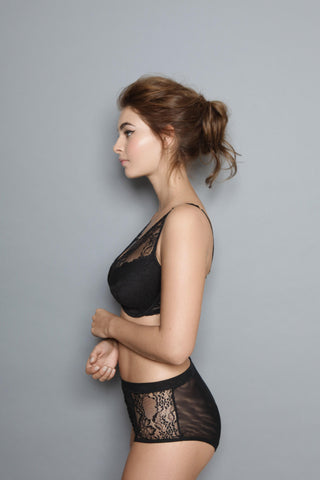 Jo - Black - V Neck Plunge Bra
