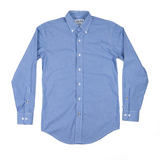 The Graham Button Down - Royal Blue Gingham Poplin