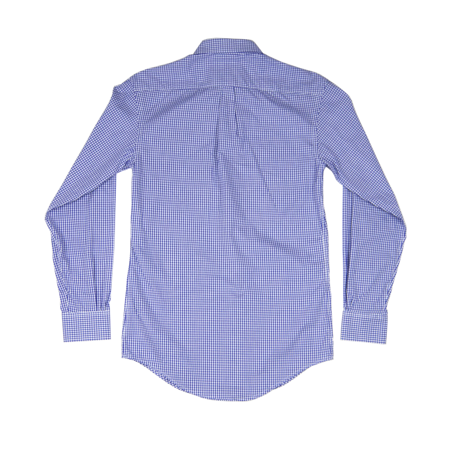 The Graham Button Down - Purple Gingham Poplin