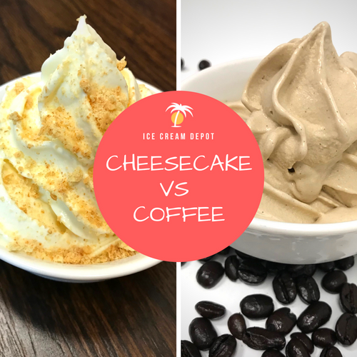 Cheesecake vs Coffee Soft Serve Ice Cream