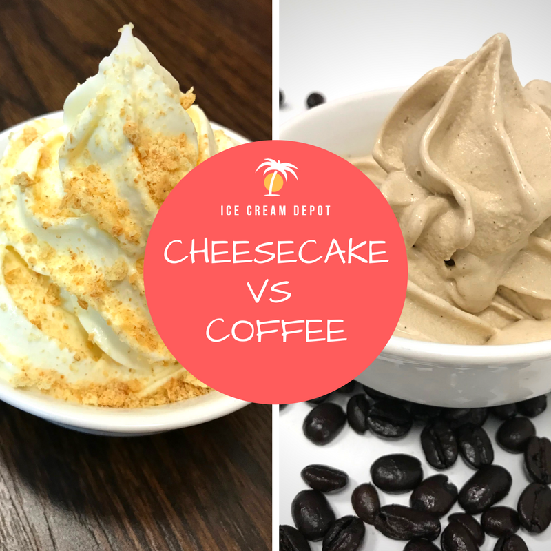 Cheesecake Soft Serve vs Coffee Soft Serve Ice Cream