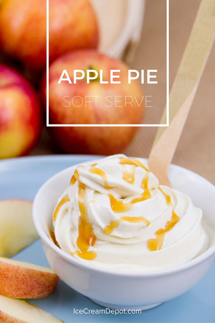 apple pie soft serve ice cream