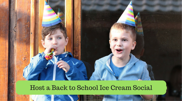 Host a Back to School Ice Cream Social