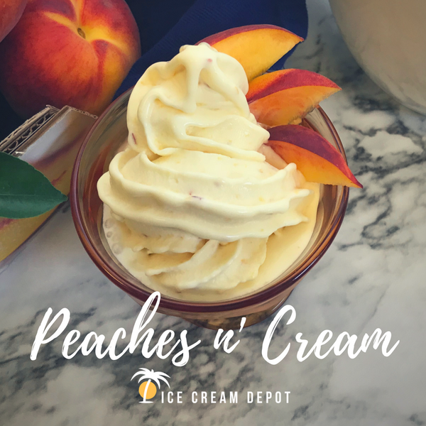 Peaches n' Cream Soft Serve Ice Cream