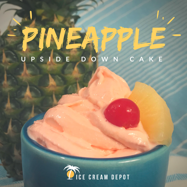 Pineapple Upside Down Cake Soft Serve Ice Cream