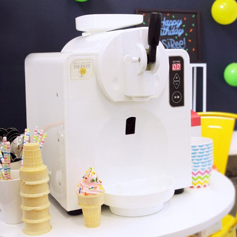 automatic home soft serve ice cream machine