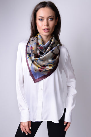 Mongolian Wear-3-Ways Shawl Tawny Port