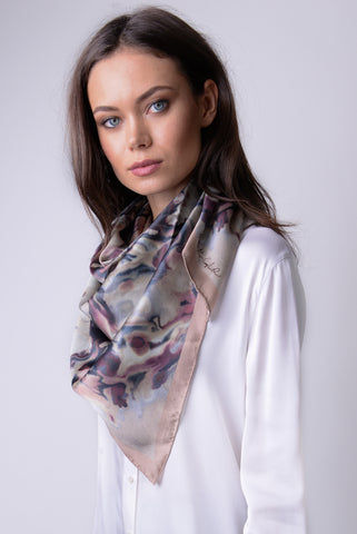 Mongolian Wear-3-Ways Shawl Neutral Grey