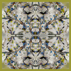 Silk Carre´Abstract Floral Golden Lime