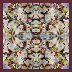 Silk Carre´Abstract Floral Tawny Port