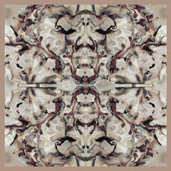 Silk Carre´Abstract Floral Warm Taupe