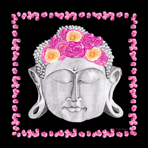 Buddha Headress Neckerchief - Black