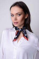 Silk Neckerchief Caribou Herd Black