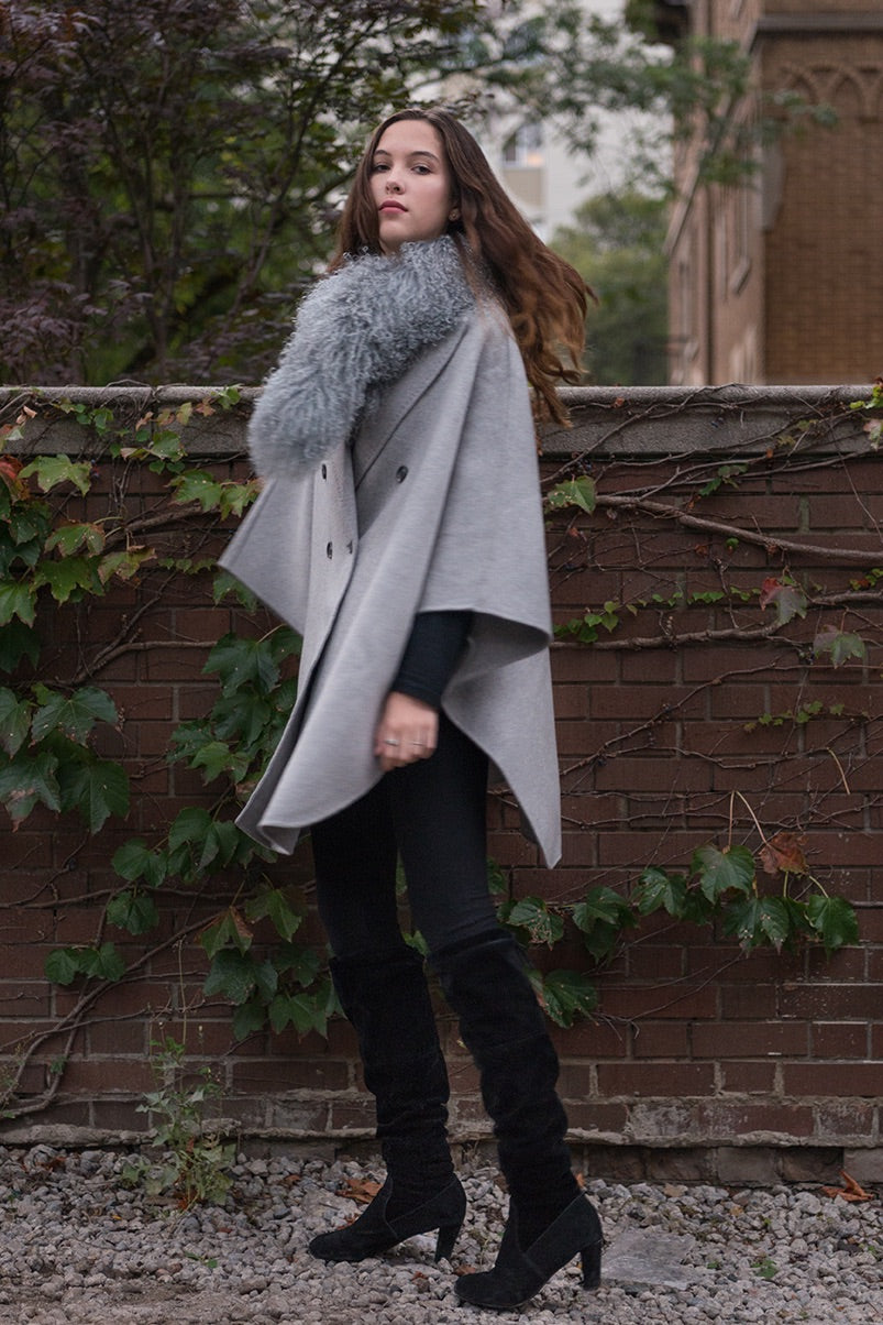 Tailored Cape Neutral Grey