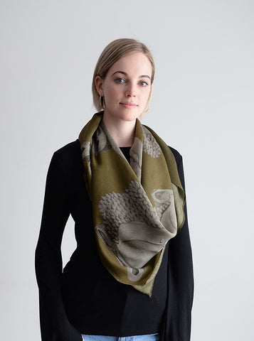 Wrap Yourself in Buddha Luxe Silk Wool RIVER