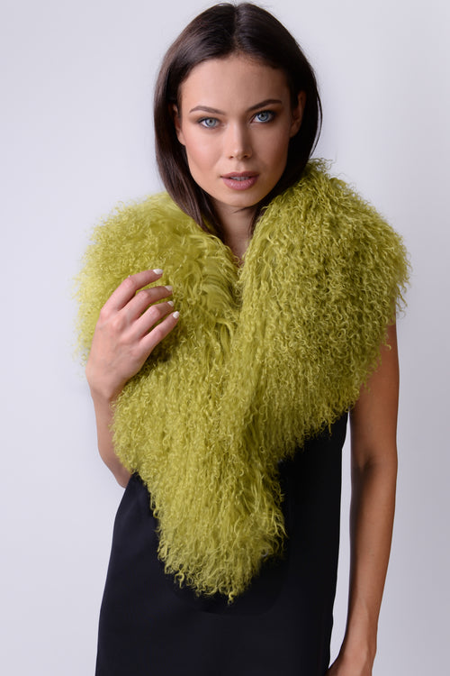Mongolian Wear-3-Ways Shawl Golden Lime - 1 piece left!