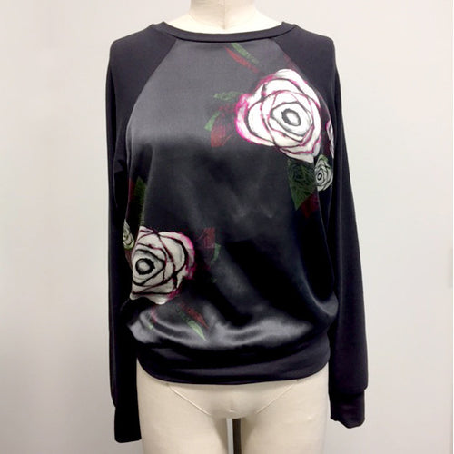 HCT Silk Sweatshirt Mauve - only 1 large left!