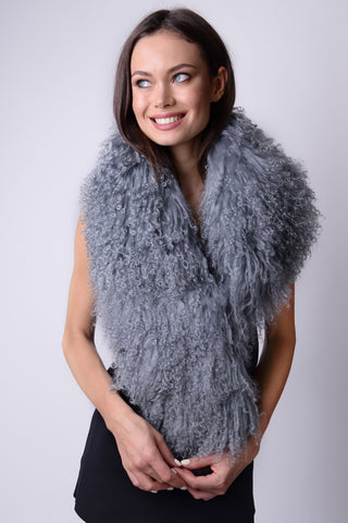 Mongolian Wear-3-Ways Shawl Warm Taupe - 1 piece left!
