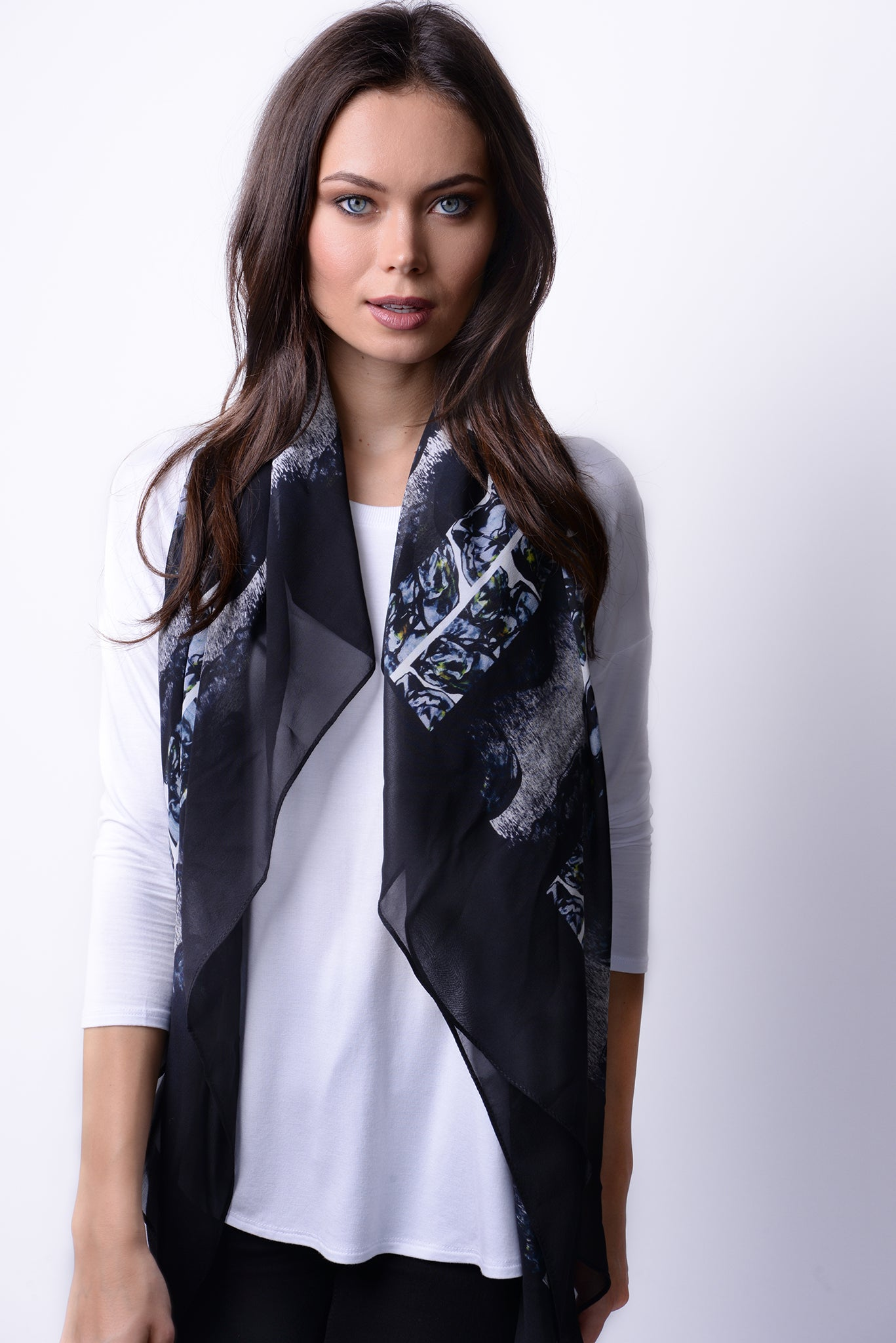 Silk Georgette Night Is My Oyster Scarf
