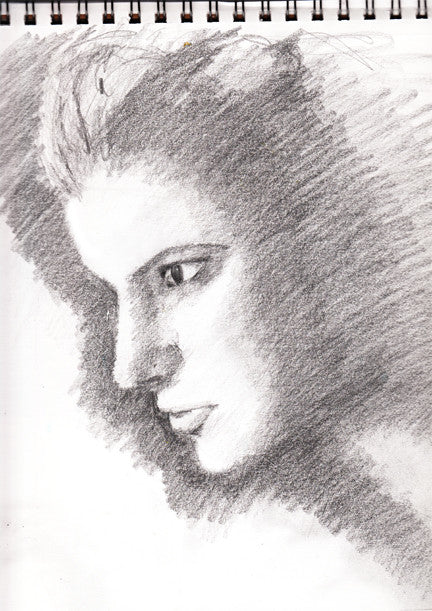 Drawing portrait photograph