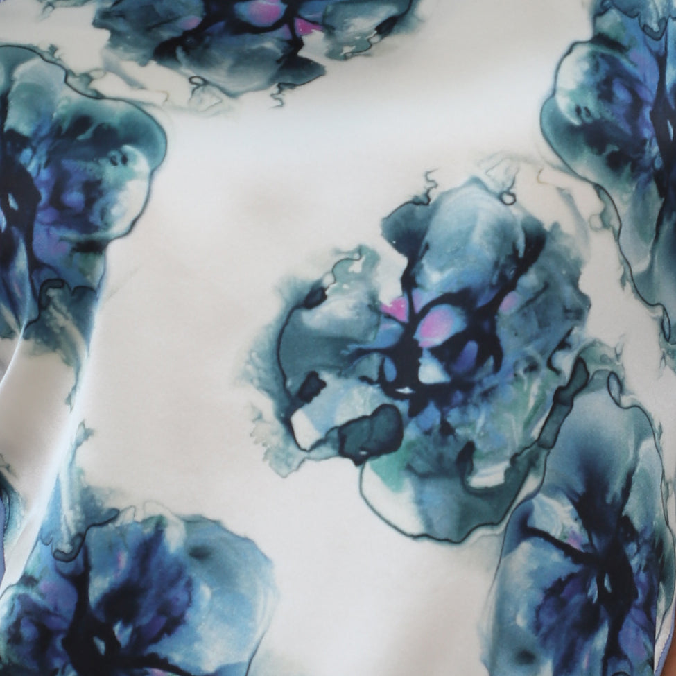 Silk Neckerchief Porcelain Violets