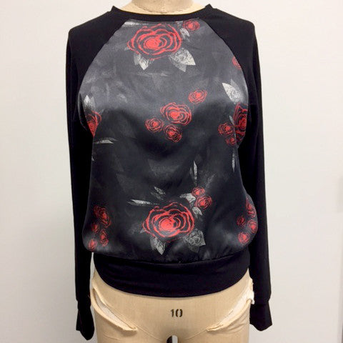 HCT Silk Sweatshirt Red Rose