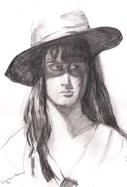 Drawing Hat Girl by Gerold Leslie Brockhurst