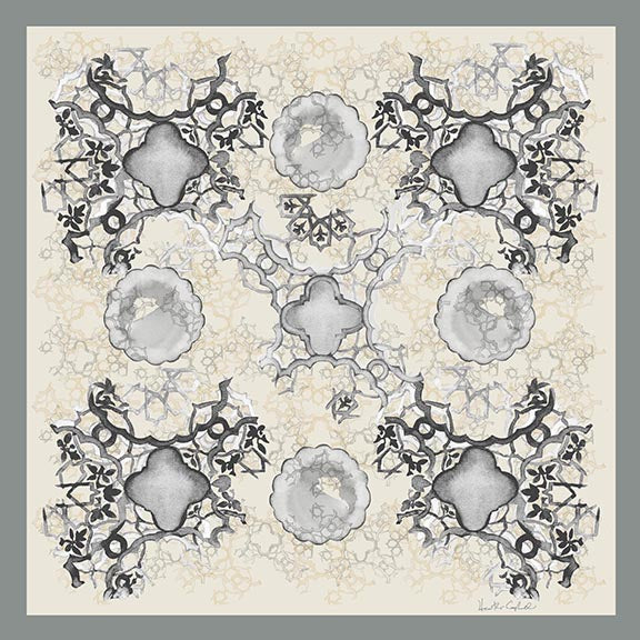 Silk Carre´ Syrian Tile Neutral Grey