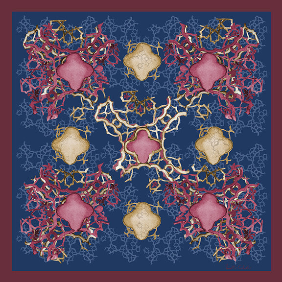 Silk Carre´Syrian Tile Tawny Port