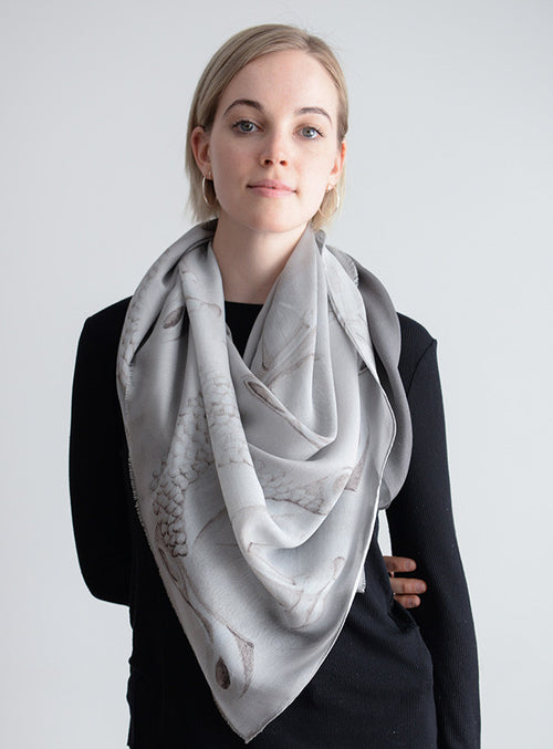Wrap Yourself in Buddha Luxe Silk Wool Whisper Grey