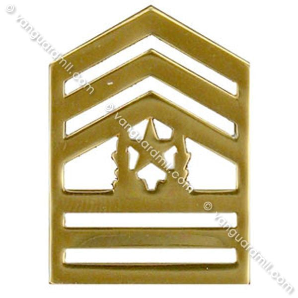 Army ROTC Chevron: Command Sergeant Major - brass
