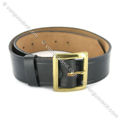 Navy Belt: Heavy Duty Leather Belt with Brass Buckle