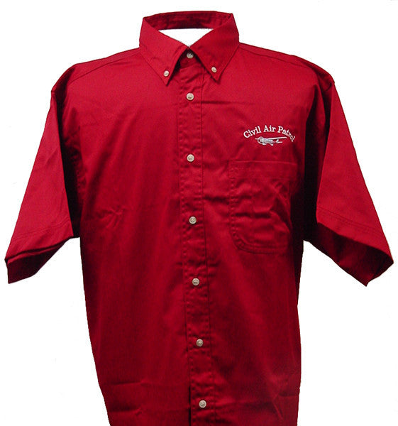 Civil Air Patrol Leisure Short Sleeve Shirt: Red - male