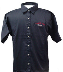 Civil Air Patrol Leisure Shirt: Short Sleeve - navy blue, female