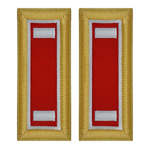 Army Shoulder Strap: First Lieutenant Engineer - female