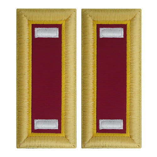 Army Shoulder Strap: First Lieutenant Ordnance - female