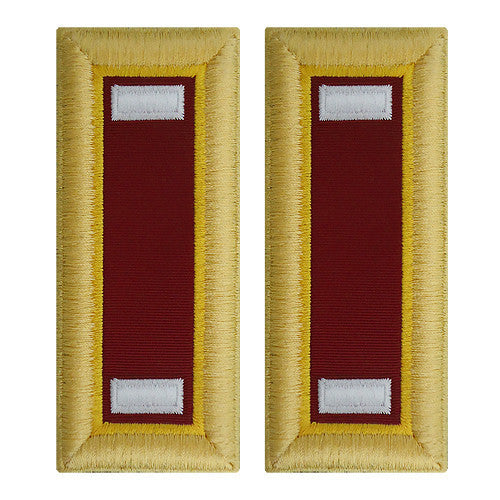 Army Shoulder Strap: First Lieutenant Transportation - female