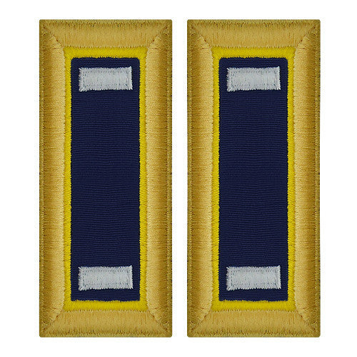 Army Shoulder Strap: First Lieutenant Chemical - female