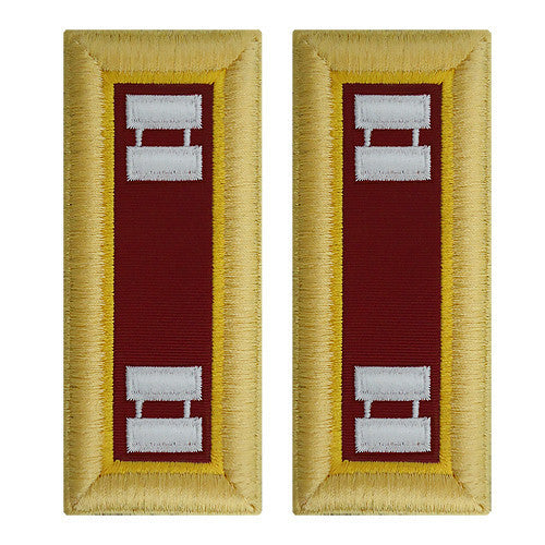 Army Shoulder Strap: Captain Transportation - female