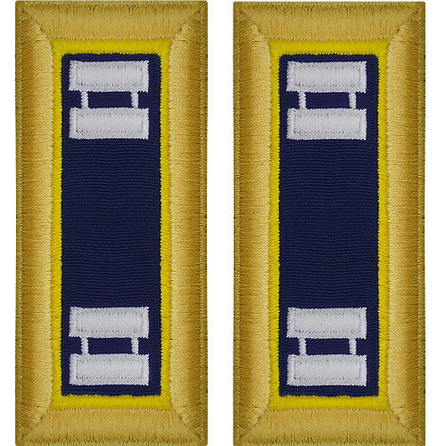 Army Shoulder Strap: Captain Chemical