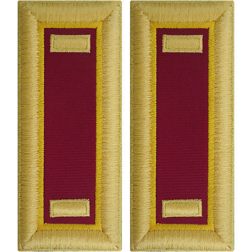 Army Shoulder Strap: Second Lieutenant Ordnance